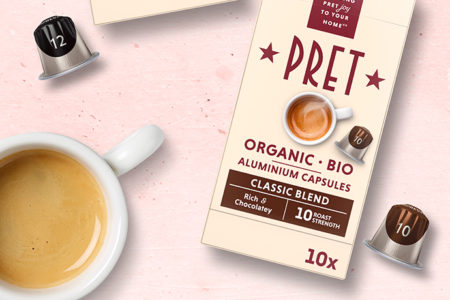 Pret launches coffee-at-home aluminium pods